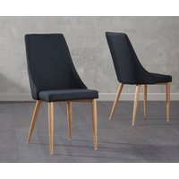 Read more about Ashbourne black fabric dining chairs -pairs-