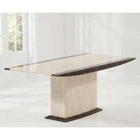 Read more about Assisi 180cm cream pedestal marble dining table