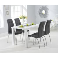 Read more about Atlanta 120cm white high gloss dining table with calgary chairs