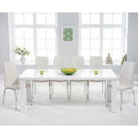 Read more about Atlanta 200cm white high gloss dining table with cavello chairs