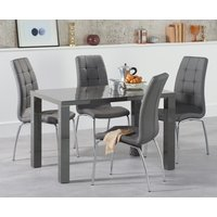 Read more about Atlanta 120cm dark grey high gloss dining table with calgary chairs