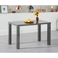 Read more about Atlanta 120cm dark grey high gloss dining table