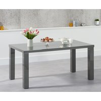 Read more about Atlanta 160cm dark grey high gloss dining table