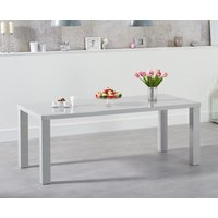 Read more about Atlanta 200cm light grey high gloss dining table