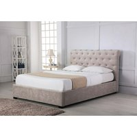 Read more about Balmoral stone low end scroll ottoman king size bed