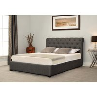 Read more about Balmoral grey low end scroll ottoman king size bed