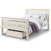 Read more about Basel stone white high foot end solid pine king size bed