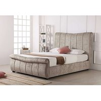 Read more about Bosworth stone fabric sleigh ottoman king size bed