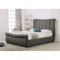 Read more about Bosworth grey fabric sleigh ottoman super king size bed