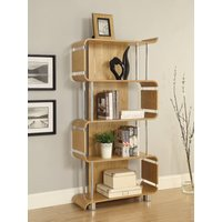 Read more about Curve oak bookcases