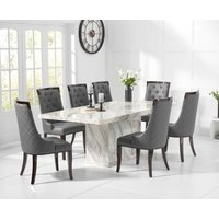 Calacatta 180cm Marble Dining Table with Angelica Chairs