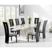 Calacatta 220cm Marble Dining Table with Verbier Chairs