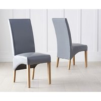 Product photograph showing Cannes Grey Bonded Leather Dining Chairs Pairs