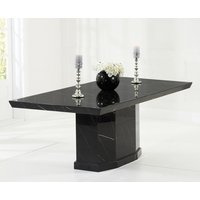 Read more about Carvelle 200cm black pedestal marble dining table