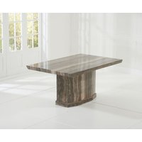 Read more about Carvelle 160cm brown pedestal marble dining table