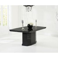 Read more about Carvelle 160cm black pedestal marble dining table