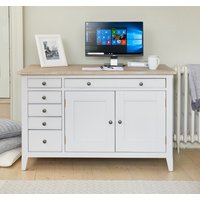 Product photograph showing Harbor Hidden Home Office Desk
