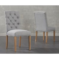 Product photograph showing Candice Grey Fabric Dining Chairs Pairs