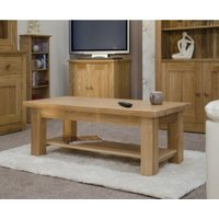Product photograph showing Reno 90cm Oak Coffee Table