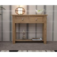 Product photograph showing Reno Oak Console Table