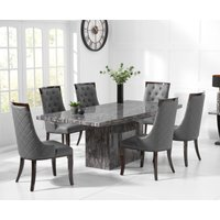 Read more about Crema 160cm grey marble dining table with angelica chairs