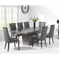 Read more about Crema 180cm grey marble dining table with angelica chairs