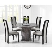 Read more about Crema octagonal grey marble dining table with raphael chairs