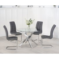 Read more about Denver 110cm glass dining table with lorin chairs