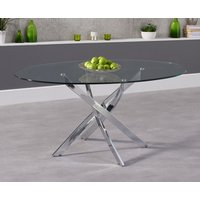 Product photograph showing Denver 165cm Glass Dining Table