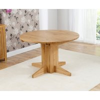 Dorchester 120cm Oak Round Extending Dining Table