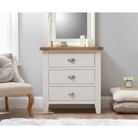 Read more about Ellen oak and white 3 drawer chest