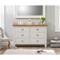 Read more about Ellen oak and white 6 drawer chest