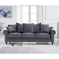 Read more about Everson grey velvet 3 seater sofa