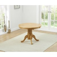 Product photograph showing Epsom Oak Extending Pedestal Table