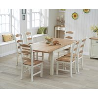 Somerset 130cm Oak and Cream Extending Dining Table with