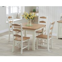 Read more about Somerset 90cm flip top oak and cream table with chairs