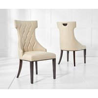 Product photograph showing Freya Cream Faux Leather Dining Chairs Pairs