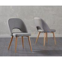 Product photograph showing Harrogate Grey Fabric Dining Chairs Pairs