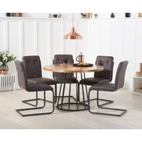 Highbury 110cm Round Dining Table with Alana Dining Chairs