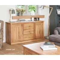 Product photograph showing Mobel Large Solid Oak Sideboard
