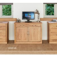 Product photograph showing Mobel Solid Oak Hidden Home Office