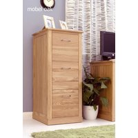 Product photograph showing Mobel Solid Oak 3 Drawer Filing Cabinet
