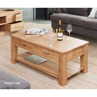 Read more about Mobel solid oak 4 drawer coffee table