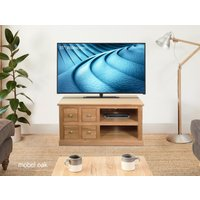 Read more about Mobel solid oak 4 drawer television cabinet