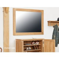 Product photograph showing Mobel Solid Oak Wall Mirror