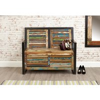 Kensington Storage Monks Bench (with shoe storage)