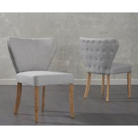 Read more about Imogen grey fabric dining chairs -pairs-
