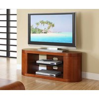 Read more about Curve walnut oval tv unit