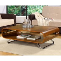 Read more about Curve walnut coffee table