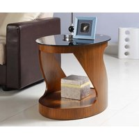 Read more about Curve walnut oval side table